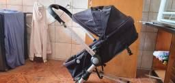 Carrinho de bebê com bebê conforto torro (R$500,00)