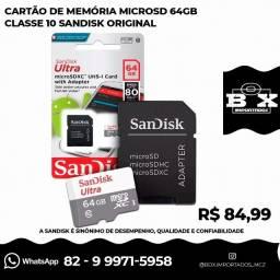 Cartão Micro Sd 64gb Ultra Classe10 Sandisk 80mb/s Original