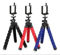 Mini tripé Flexível/ Suporte Celular/ Web cam