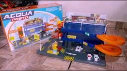 Lava Rápido Brinquedo Posto para Carrinhos Miniaturas Hot Wheels