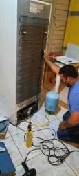 Título do anúncio: Consertamos a sua geladeira ai na sua casa com garantia