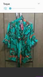 Blusa Neon De luxo 100%seda