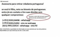 Assessoria para cidadania portuguesa - dupla nacionalidade!