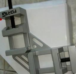 Morsa Dupla em Alumínio para Montagens 90 graus