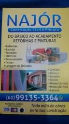 Reparos e reformas em casas, apartamentos e comércio.