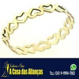 Anel super apaixonado em ouro 18 K 3 Grmas - R$ 450.00