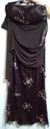 Vestido De Festa Marrom, Tamanho 52