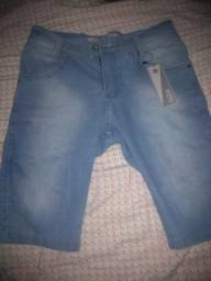 Bermuda jeans as 3 por 100 tamanho 40