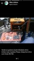 Guitarra blindada Austin ótimo timbre