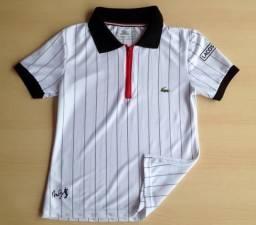 Camisa Polo Feminina Lacoste com zíper 0da0f53d6a40d