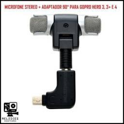 Título do anúncio: Microfone Bilateral P2 + Adp. Para GoPro Hero 3 e 4