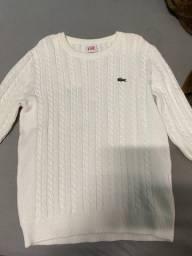 Suéter Branco Lacoste