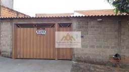 Casa com 2 dormitórios para alugar, 85 m² por R$ 900/mês - Jardim Arlindo Laguna - Ribeirã