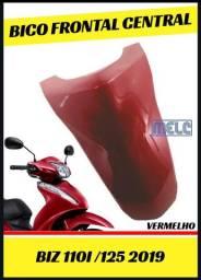 Bico frontal central biz 125/110i vermelho