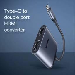 Hub Baseus 3 in 1 2*HDMI 4K 60hz +PD