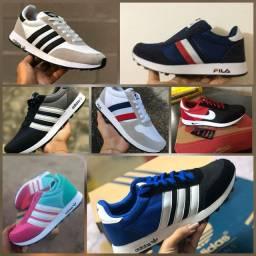Tênis Adidas e fila confortável
