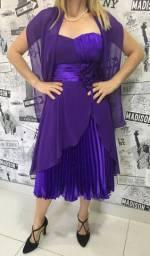 Vestido lilás Tam:P:40 novo R$180,00 C. Frio