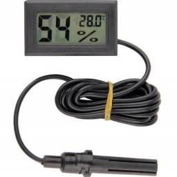 Higrômetro Termômetro Digital Com Sensor Externo Umidade