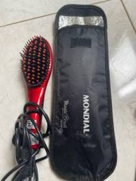 Escova Alisadora Mondial Magic Brush Ion Ea-01 Vermelha 2V