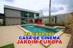 Título do anúncio: Jardim Europa, 5 Suítes, Piscina, Casa de Cinema, Espetacular, Espaço Gourmet