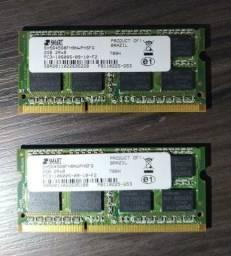 2x Memória RAM 2GB Notebook