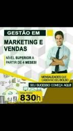 Faça já o Curso Superior Sequencial Gestão em Marketing e Vendas.