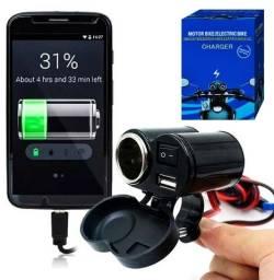 Carregador Celular Moto GPS usb 12v