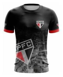 Camiseta Futebol Clube São Paulo FC Vermelho e Preto