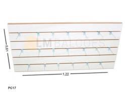 Painel Canaletado Mdf 0,61 X 1,22 - Branco + 20 Ganchos 05 cm