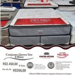 Título do anúncio: Cama Queen Size Molas Ensacadas Pilow D65 Nova de Fábrica com Frete grátis