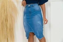 Saia jeans longas