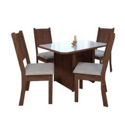 mesa de jantar 4 cadeiras zap zap *