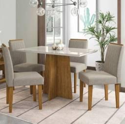Mesa 4 cadeiras Lara 120x80
