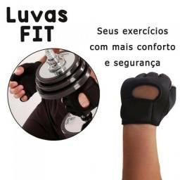 Luva Fit Academia Exercício Musculação Par Munhequeira Punho