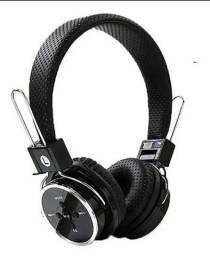 Fone de Ouvido Headphones Sem Fio Bluetooth Micro SD MP3 FM