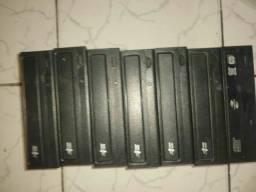 lote com 7 gravadores dvd