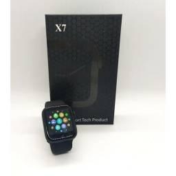 Relógio inteligente Smartwatch X7 faz ligação Bluetooth
