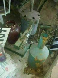 Coisas antiga de posto de gasolina antiga