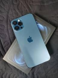 Título do anúncio: IPHONE 12 PRO MAX 128GB PACIFIC BLUE-COM CAIXA E NOTA FISCAL