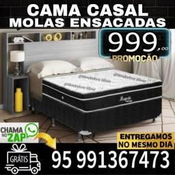 Título do anúncio: Cama Casal Molas Ensacadas Nova Zerada Promoção frete grátis