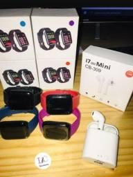 Kit relógio smartwatch d13 + fone de ouvido i7 sem fio com Bluetooth