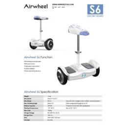 Scooter Elétrico Airwheel S6 Cadeira Ajustável/ Controle novo