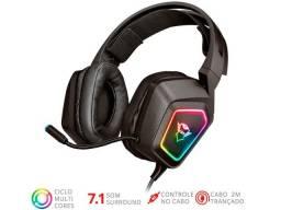 headset trust  23191 gxt-450 rgb com surround 7.1 com driver 40mm