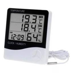 Termometro Medidor De Umidade E Temp C/ Sensor Externo Exbom