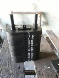 Torres de pastilhas  para carga  de aparelhos fitness