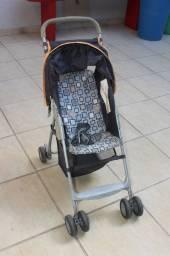 Carrinho de Bebê / Infantil / em Poliéster Preto 87 cm x  40 cm x  70 cm