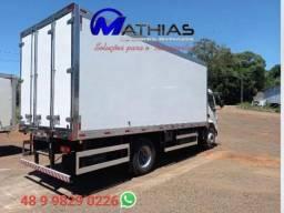 Título do anúncio: bau 14 paletes caminhão truck 7.50 mts novo piso canaletado