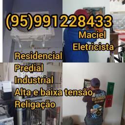 Título do anúncio: Eletricista Maciel profissional Eletricista Maciel profissional