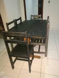 Mesa 6 cadeiras cerejeira