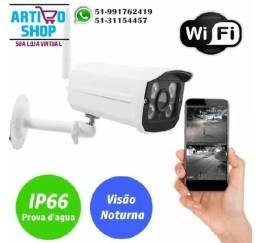 Camera Ip De Seguranca Wireles Externo Prova Dágua